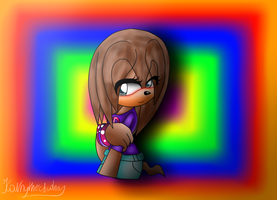 Lisa the echidna-That shy girl by Kathy-the-echidna