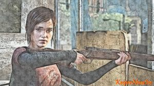 Ellie With Her Rifle by KeeperNovaIce