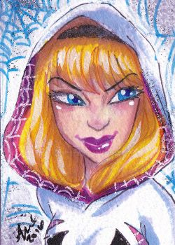 Spidergwen sketchcard 8 by mainasha