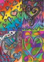 Doodle Hearts - Art Cards by RivkahWinter