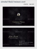 Clouded BLACK Business Card by khatrijiya