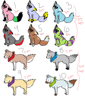 10 Pack Adopts Cool Guy Dog and Scarf Dog [cheap] by SolarFoxi