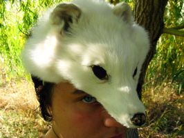 Arctic Fox Mask - for sale! by SPWilder