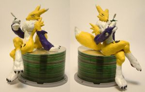 Renamon sculpture by spooky-freaky-dave