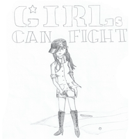 GIRLs CAN FIGHT by HazelCrest