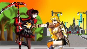 Yang and Ruby Sparring by ARSONicARTZ
