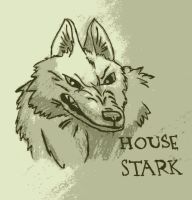 Princess Mononoke - Game of Thrones- House Stark by Chazambre