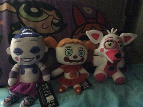 FNAF Plushies Part 2 (Sister Location)  by JYUSKO