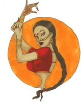 Pin Up Indian Dancer by LaTaupinette