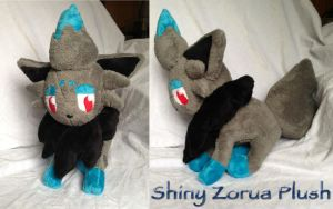 Shiny Zorua Plush by CeltysShadow