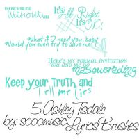 5Ashley Tisdale Lyrics Brushes by SoooMusic