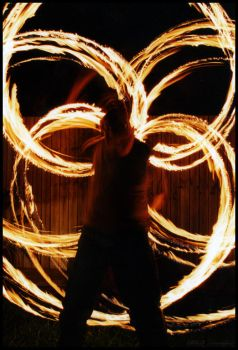 Fire Twirling by memphis