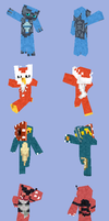 Pokemon Minecraft Skin Pack by DarkShinyCharizard