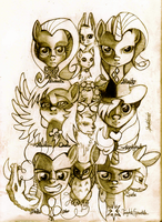 The Mane Six Are Best Ponies by Invalid-David
