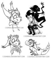Dont Starve Sketches by ZombiDJ
