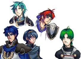 Fire Emblem sketches 2 by Shun-one