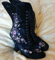 Faux Victorian boots by Abigial709b