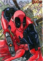 Deadpool Sketch Card by DKuang