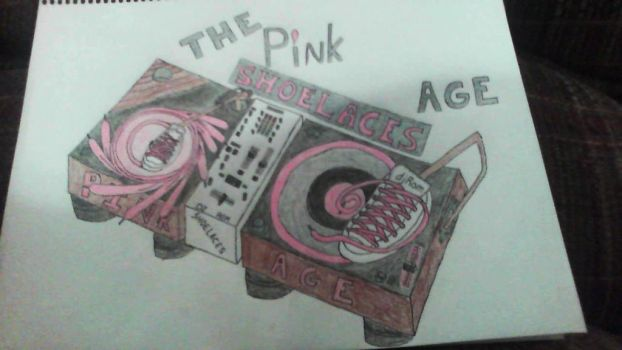 The Pink Shoelaces Age Album Cover by SweetL3w
