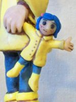 lil' Coraline by superclayartist
