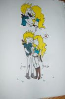 Finn and Fionna by ceruleancrayons