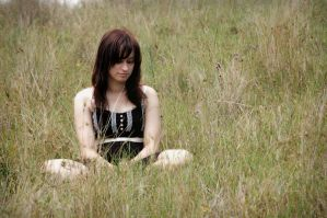 Sitting On Grass by ambie-bambi