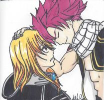 Natsu And Lucy by LuceyDragoneel