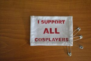 Punk patch I support all cosplayers by sleepyhamsteri