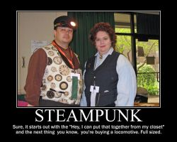 Steampunk Motivational Poster by tkoverkamp