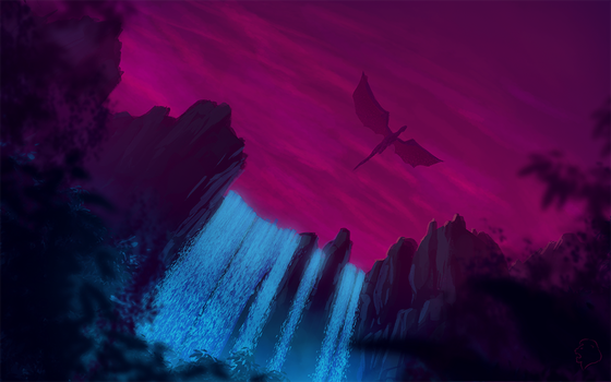 Over the waterfalls by dagadele