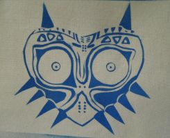 Majora's Mask - finished spraypaint on canvas by raena-nayrue