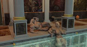 Athena's Nude Pool Party 2 by Angel-Uriel15