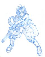 teh girl with a minigun by MobileSuitGio