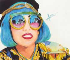 Lady gaga watercolors by franxxxholic