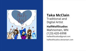 Business Card by HalfWolfStudios