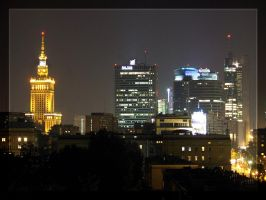 Warsaw by night by Ciscofighter