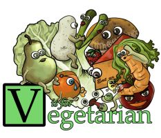 v is for vegetarian by foxgod
