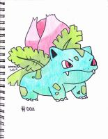 #002 ivysaur by Yami-The-Orca