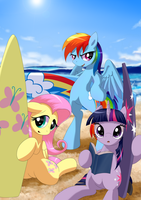 Ready to surf (2014) by nekokevin