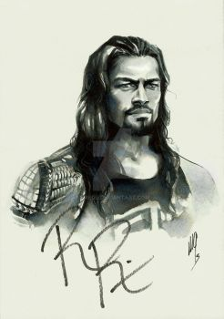 Roman Reigns (signed by him) by EmegE