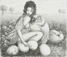 Leda and the Swan by MadMonaLisa