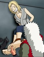 Jiraiya Tying Up Tsunade by no-pornography