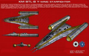 BTL-B Y-wing starfighter ortho [Updated] by unusualsuspex