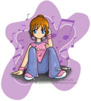 Listening to Music     -color- by KattyJL