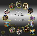 Art Year In Review 2014 by Thagirion