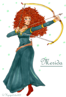 Merida at the Archery Contest by Kyogurt-Star459