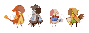 BirdFolk Adopts Set CLOSE THANKYOU! by Kel-Del