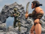 Cavewoman vs Robot Lord 3D printed by hauke3000
