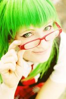 Vocaloid - Red Glasses And Green Hair by aco-rea