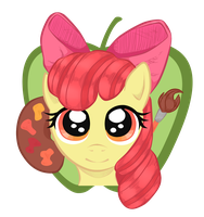Applebloom Keychain by BuckingAwesomeArt